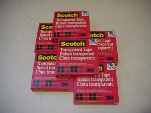 6 Pack Scotch Transparent Tape 600 72 Yards 3 4 X 2592 3 Core 6pk