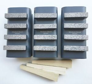 New 6pk 60 80 Grit Diamond Grinding Block For Edco stow husq gen Grinders