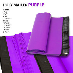 All Sizes Poly Mailer Shipping Mailing Bag Envelopes Polybag Polymailer Purple