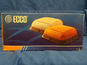 Ecco Beacon Led Square Clear amber Vacuum Magnet Mount Light
