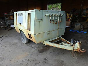 Sullair 375 Cfm Air Compressor John Deere Turbo Diesel Video Runs Exc Trailer