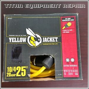 Yellow Jacket 10 4 20 Ampo Generator Cord 25ft