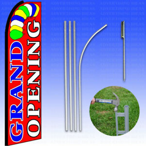 Feather Flag Swooper Advertising Flag Banner Sign 15 Tall Kit Grand Opening R