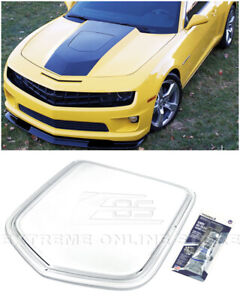 For 10 15 Camaro Polycarbonate Front Clear Window Heat Extractor Hood Insert