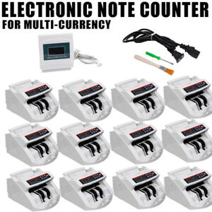 Lot Money Bill Currency Counter Counting Machine Counterfeit Detector Uv Mg Cash