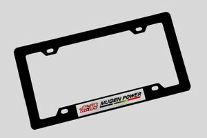 1pcs Mugen Power Sticker Abs License Plate Frame For Honda Civic Accord S2000