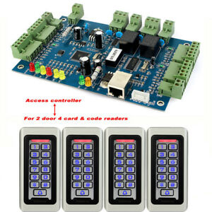 Wiegand Tcp ip Entry Double Access Controller Panel 2door 4rfid Card code Reader