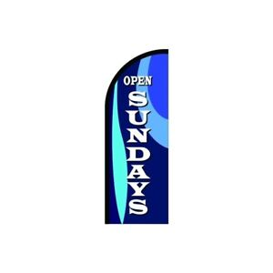 Open Sundays Feather Flag Sign Outdoor Advertising Business Flag Only