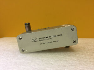 Hp Agilent 355f 001 Dc To 1000 Mhz 0 To 120 Db N f Vhf Attenuator Tested
