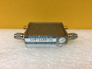 Tektronix 119 1645 01 Filter Module For 492 494 Spectrum Analyzers Tested