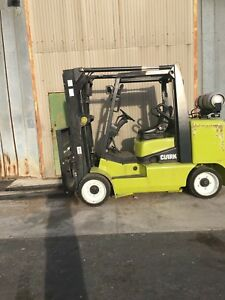 2013 Clark Cgc70l 15 500lb Propane Cushion Tire Forklift 359 Hours