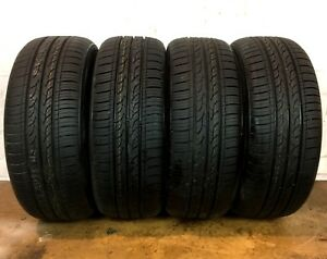 Set Of 4 Full Tread Kumho Solus Kh25 195 50 r16 195 50 16 Tires Driven Once