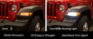 Switchback Turn Signal Leds For 2018 Jeep Jl Wrangler Sport Pair Diode Dynamics
