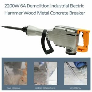 3600w Construction Demolition Jack Hammer Electric Concrete Breaker 2 Chisel Bit