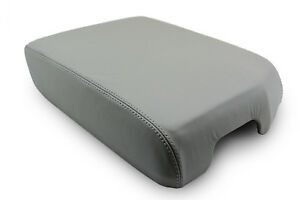 Fits 07 13 Toyota Tundra Synthetic Leather Armrest Center Console Cover Gray