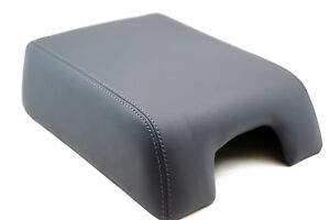 Fits 04 08 Ford F150 Lariat Synthetic Leather Armrest Center Console Cover Gray