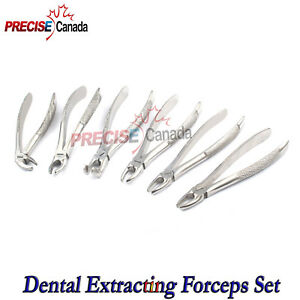 English Pattern Tooth Extracting Forceps Set Of 10 Pcs Dental Instruments