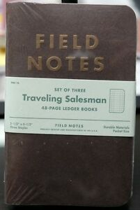 Field Notes Traveling Salesman Limited Edition Sealed 3 pack New And Unused