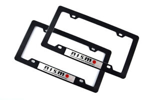 2pcs Nismo Racing License Plate Frame For Black Nissan Skyline Gtr 350z 370z Z32