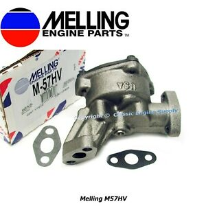 New Melling Hv Oil Pump Ford Fe 330 332 352 360 361 390 406 410 427 428 430 462