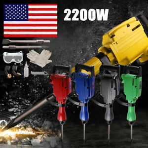 New 2200w Electric Power Breaker Construction Heavy Demolition Jack Hammer Punch