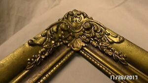 2648m Antq 40 S 20x12 Wood Picture Frame Ornate Old Gold Finish Hand Craft Edges