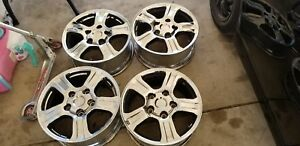 2009 Toyota Tundra 18 Inch Rims Chrome In Fair Good Condition Set Of 4 With Caps