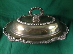 Melford M608 Vintage Covered Serving Dish Very Heavy Madery Wallace Stamp