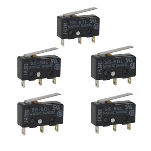 5pcs Mini Limit Switch Micro End Stop Switch Omron Ss 5gl For 3d Printer