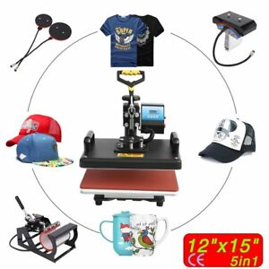 5 In 1 Digital Heat Press Machine For Printing On T shirt Cap Mug Sublimation Sg