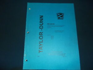 Taylor Dunn Mb 248 06 B2 38 B2 48 B254 Truck Operation Maintenance Manual Book