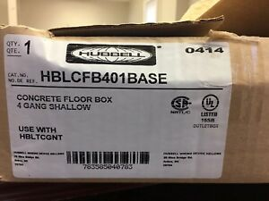 Hubbell Concrete Floor Box 4 Gang Shallow
