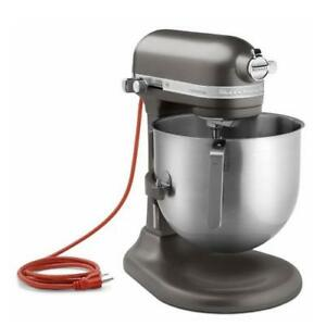 Kitchenaid Commercial Ksm8990dp 8 Qt Dark Pewter Commercial Stand Mixer