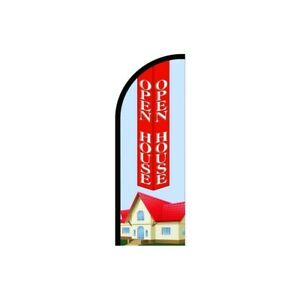 Open House Feather Flag Sign Outdoor Advertising Business Flag Only