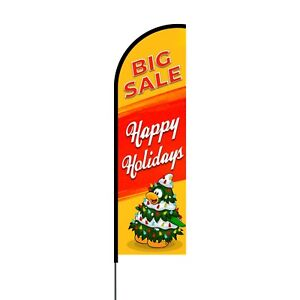 Sale Feather Flag Sign Outdoor Advertising Business Flag Only