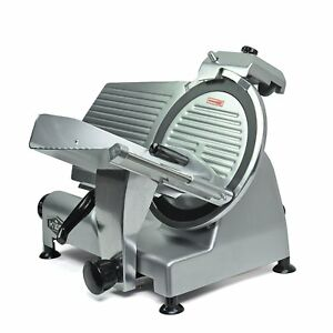 Kws Premium Commercial 420w Electric Meat Slicer 12 Non sticky Teflon Brand New