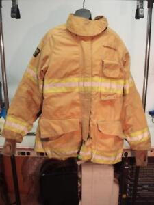 Janesville Firefighter Cvfm Coat 48 32r Bunker V force Gear Jacket 2010 a3bm