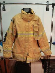 Janesville Firefighter Cvfm Coat 44 32r Bunker V force Drd Jacket 2006 a3bn