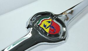 Classic Fiat 500 595 695 Abarth Front Badge Emblem Brand New In Metal