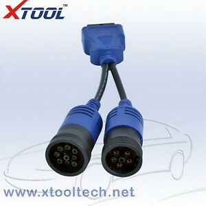 Xtool Obd2 6 Pin And 9 Pin Truck Cable Diagnostic Cable Sett Cummins Inline 5 Fo