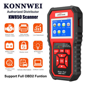 Konnwei Kw850 Obd2 Automotive Code Scanner Car Diagnostic Tool Multi languages