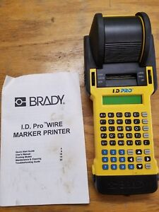 Brady I d Pro Id Wire Marker Printer Labeler Two Batteries No Charger