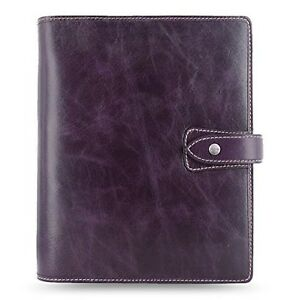 Filofax Malden Purple A5 Size Leather Organizer Agenda Calendar With Diloro J