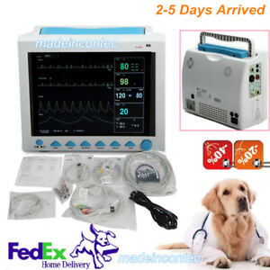 Vet Veterinary Patient Monitor Vital Signs Icu 6 parameters hospital clinic Use