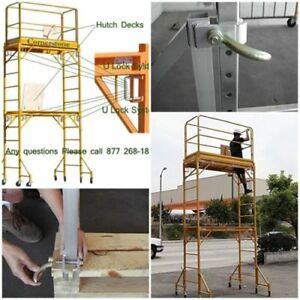 Multipurpose Scaffold Rolling Tower Package 12 1 000 lb Heavy Duty Steel Safety