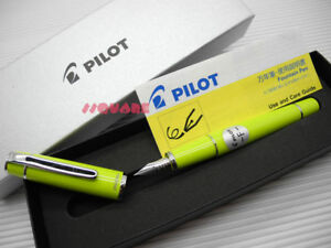 tracking Number Pilot Fpr 3sr Prera Fine Fountain Pen Lime Green 6 Cartridges