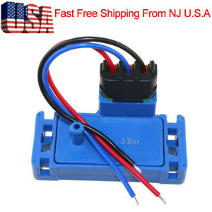 3 Bar Map Sensor For Gmc Yukon Caballero Jimmy Sonoma Envoy Xl With Plug Pigtail