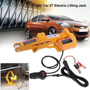 2 Ton Automotive Electric Scissor Car Jack Lifting Impact Wrench 12v Tools Kit