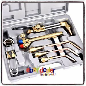 Gas Oxygen Acetylene Torch Kit 10pcs Welding Cutting Set Victor Type Welder