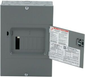 Subpanel 100 Amp 6 space 12 circuit Indoor Main Lug Load Center Surface Mount